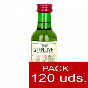 Whisky - Whisky Glenlivet 12 años MALTA 5cl CAJA DE 120 UDS