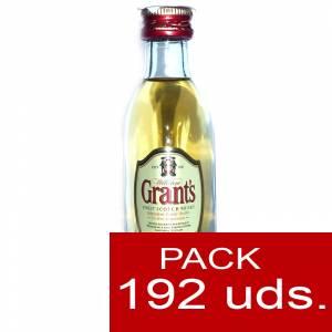 Whisky - Whisky Grants Escocés 5cl - CAJA DE 192 UDS