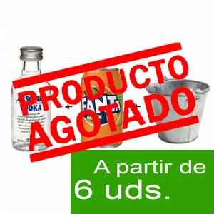 - KITS DE REGALO - Pack Vodka Absolut 5cl más Naaranja 25cl más Cubo de metal