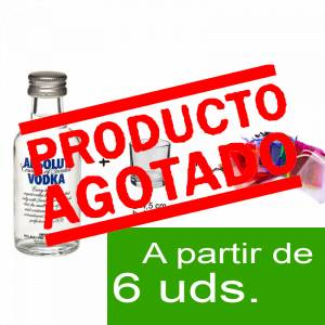 - KITS DE REGALO - Pack Vodka Absolut 5cl más chupito más Bolsa de Organza