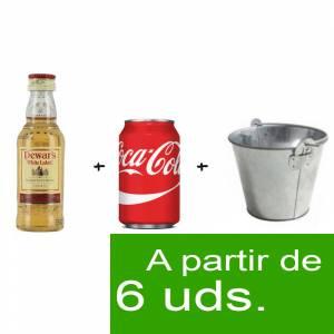 - Los más deseados - Pack Whisky Dewarás White Label 5cl más Coca Cola lata 25cl más Cubo de metal
